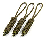 3 Arid Digital Paracord Knife Lanyards With Bronze Skull Bead