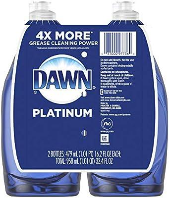 Dawn Platinum Dishwashing Liquid Dish Soap Refreshing Rain 2x16.2 oz (Packaging May Vary)