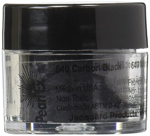 (Jacquard Pearl EX Powdered Pigments 3 Grams-Carbon Black)