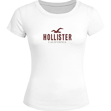 Classic Hollister Logo For Ladies Womens T-Shirt Tee Outlet ...