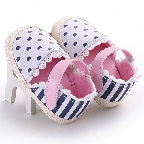 WAYLONGPLUS , Chaussures premiers pas pour bébé (fille) 12 (6-12 Months)