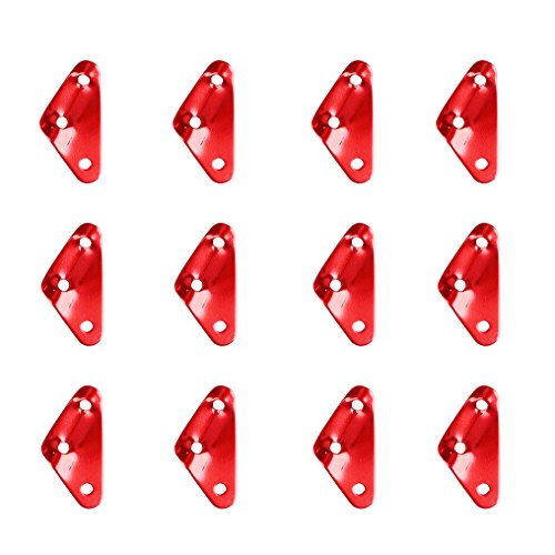 TRIWONDER Aluminum Alloy Guyline Cord Adjuster Tent Tensioners Rope Adjuster for Tent Hiking Camping (Red (Triangle Shape) - 12 Pack)