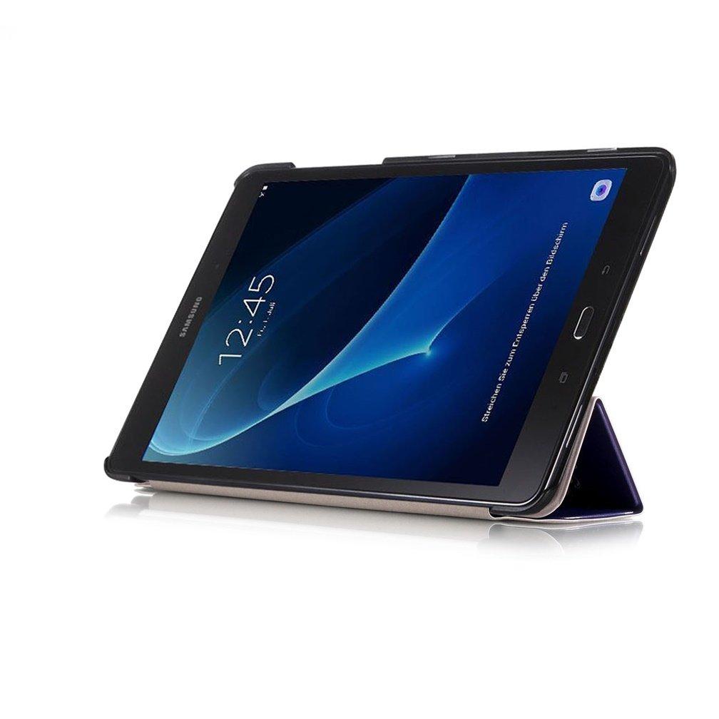 SM-T580 // T585 Tablet  PU Pelle Case Cover Custodia con Supporto DETUOSI Custodia per Samsung Galaxy Tab A6 10.1