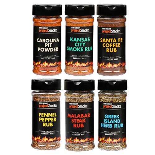 Bbq Spice - Steven Raichlen Project Smoke BBQ Spice Rub Seasoning Combo Gift Pack - 6 Pack World Wide Barbeque