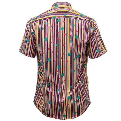 Loud Originals geschneiderte Passform Hemd mit kurzen Ärmeln - Streifen & Tupfen