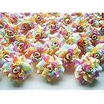 100-Silk-Light-Rainbow-Roses-Flower-Head-175-Artificial-Flowers-Heads-Fabric-Floral-Supplies-Wholesale-Lot-for-Wedding-Flowers-Accessories-Make-Bridal-Hair-Clips-Headbands-Dress