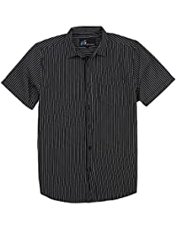 Men's Plaid Button Down Short Sleeve Shirt