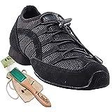 Men's Women's Practice Dance Sneaker Shoes Split Sole Black VFSN005EB Comfortable - Very Fine 10.5 M US [Bundle of 5]