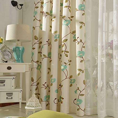 VOGOL Embroidered Curtain
