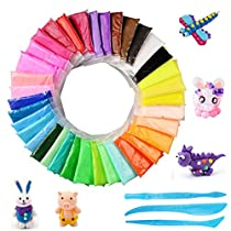 Air Dry Clay Fluffy Slime - BESTZY 36 Colors Super Soft Clay and Ultra-light DIY Modeling Clay Children Educational Toys with 3 tools Perfect Crafts and Gifts for Boys andGirls