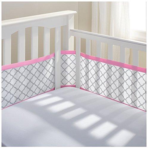 Breathablebaby Fashion Printed Classic Mesh Crib Liners Pink