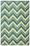 Mohawk Home 60-Inch by 96-Inch Area Rug, Stripe Chevron, Blue