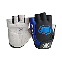 Mingus 4 Colors 3 Sizes Anti-slip Half Finger Motorcycle Gloves Mittens for Motocross Riding Racing Cycling Gloves Bicycle Riding, Size: M L XL