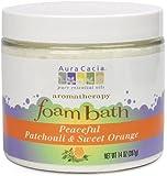 Aura Cacia Peaceful  Patchouli/Sweet Orange, Aromatherapy Foam Bath, 14 Ounce Jar