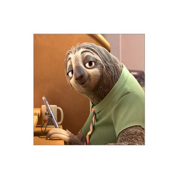 Movie Cartoon Animation Zootopia Sloth Best Modern Stretched And Framed Giclee Canvas Prints Pictures Paintings On Canvas Wall Art Ready To Hang For Home Decorations Decor 16&Quot; X 16&Quot; -