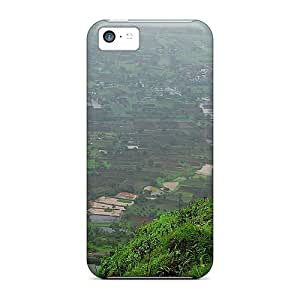 New Premium Flip Case Cover Purar Fort In Monsoon Skin Case For Iphone 5c