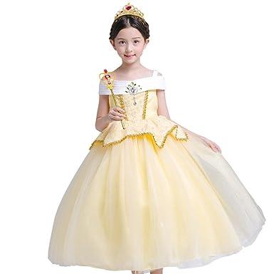 5f2818c2a010c Fille Robe Princesse Aurora Tutu Jupe Multi-Couches Déguisement de Canaval  Costume de Photographie Cérémonie