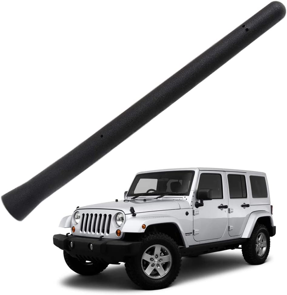 ZVEII 6 3//4 Antenna Mast Fits for The Jeep Wrangler JK JKU JL JLU Rubicon Sahara 2007-2018