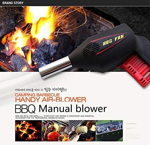 ABCCS Ventilateur extérieur Barbecue Outil Pression Manuelle Ventilateur Ventilateur Portable Barbecue sèche-Cheveux