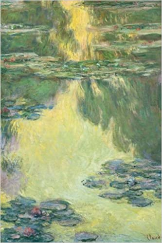 water lilies claude monet lined notebook 6x 9