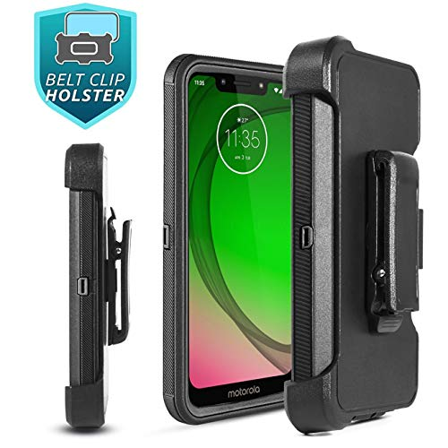 - Moto G7 Play Case w/[Swivel Belt Clip&Kickstand]&[Military Grade Drop Tested] Shockproof Hybrid High Impact Resistant Rugged Full-Body Heavy Duty Protective Phone Case for Motorola Moto G7 Play-Black