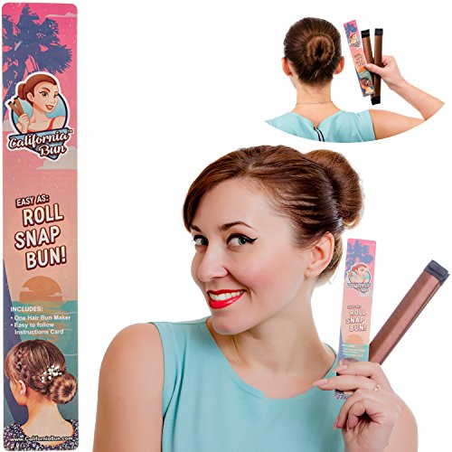 Bun Maker by California Bun | Donut Bun Hair Accessories for Women and Girls | Flaunt a Perfect Hair Bun in Just Seconds | Easy 3 Step Process: Simply Roll, Snap, Bun! | Choose Your Own Color Now