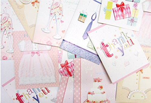 Assorted Pack Greeting Cards, Thank You, Hello Baby, Congratulations, Special for You and More! Perfect Set of Cards for All Your Needs. Pack of 20 with Envelopes. By Mega (Congratulations Pack)