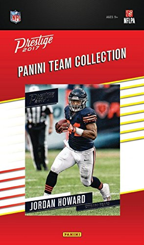 Chicago Bears 2017 Prestige Factory Sealed Team Set with Jordan Howard, Mike Glennon, Mitchell Trubisky Rookie Card plus