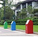 LOMJK-Papeleras-Basura-de-Acero-Inoxidable-con-Tapa-contenedores-de-Basura-Clasificados-de-Gran-Capacidad-para-Uso-en-Interiores-Exteriores-o-comerciales-Cubos-de-Basura-Color-Pack-4