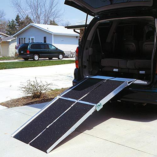 Prairie View Industries Portable Multi-Fold Reach Wheelchair Ramp, 36 Pound