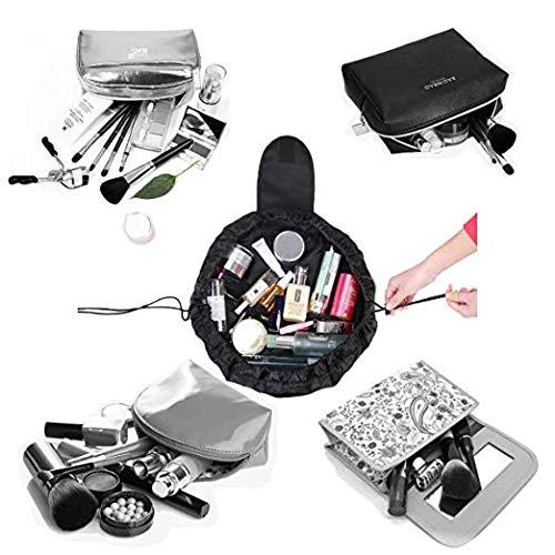 VANVENE Lazy Cosmetic Bag Toiletry Kit Travel Large Capacity Makeup Bag Portable Waterproof Zipper & Drawstrings Pouch Fashion Women Bathroom Storage