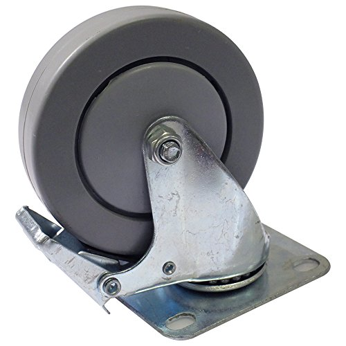Seismic Audio - LAQ18Sub-L-Wheel - 4 Inch Locking Swivel Caster or Wheel for Line Array Subs, Dual and Quad Subwoofer Cabinets