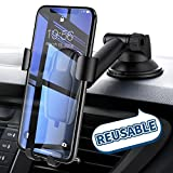 Cell Phone Holder for Car, Universal Dashboard Cell Phone Holder Gravity Auto-clamping Car Cradle Mount Adjustable Car Holder for iPhone X/ 8/7/ 6s/ Plus, Samsung Galaxy S9/ S8/ S7 Edge - Ainope
