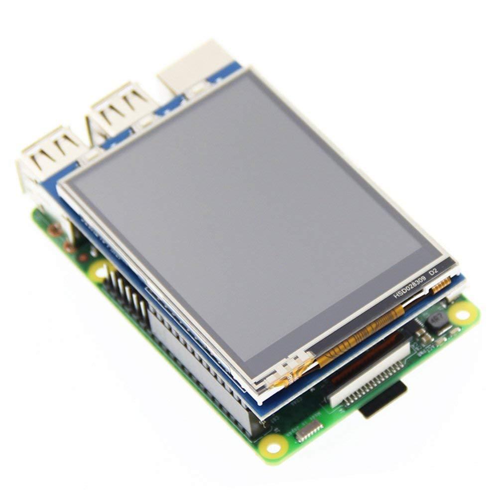 240 Modulo display LCD da 2,8 pollici con retroilluminazione a LED touch Display RPi da 2,8 pollici Display LCD seriale TFT SPI da 2,8 pollici Risoluzione 320