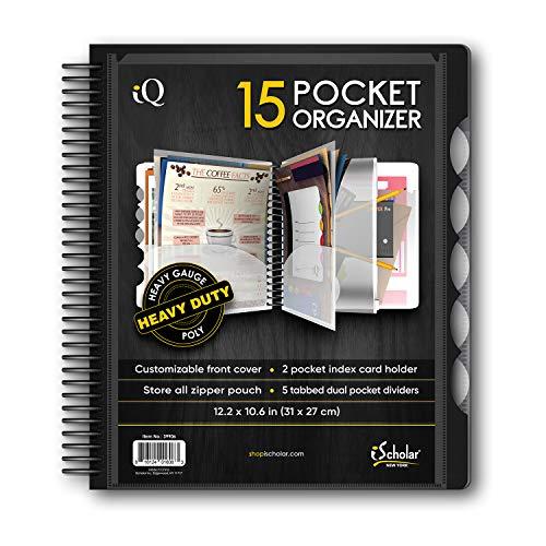IQ iScholar 15 Pocket Organizer, 12.2 x 11