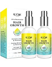 Luv Me Care Hair Growth Oil with Caffeine and Biotin 2 Pack - Biotin hair growth serum for Stronger, Thicker, Longer Hair 1.7 oz