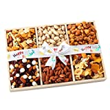 Broadway Basketeers Birthday 5 Section Gourmet Chocolate Gift Basket Candy & Nuts Assortment – Perfect Way to Say Happy Birthday Gifts