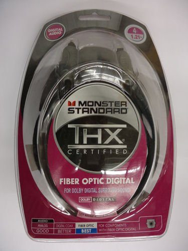 Monster THX I100 FO-4 RS Standard THX-Certified Digital Fiber Optic Interconnect Cable Radio Shack (4 feet) (Discontinued by - Shack Radio Wire