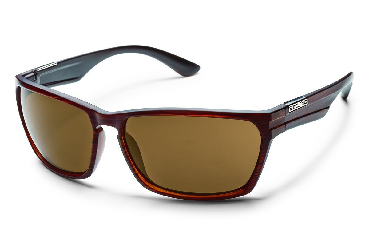 Suncloud Cutout Polarized Sunglass: Burnished Brown Frame/Brown Polarized Polycarbonate Lenses