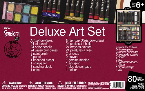 Large Product Image of Darice 80-Piece Deluxe Art Set
