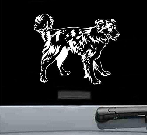 - JS Artworks Cute Border Collie Vinyl Decal Sticker Dog pet Dog pet (White)