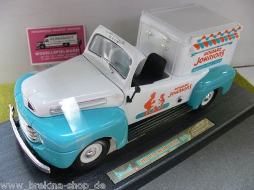 (HOWARD JOHNSON'S 1:18 Scale 1948 FORD F-1 ICE CREAM TRUCK in Box)