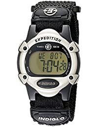 Unisex T47852 Expedition Mid-Size Digital CAT Black Fast Wrap Strap Watch