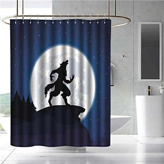 Qenuan Home Decor cortina de ducha por Wolf, animal de negocios en ...