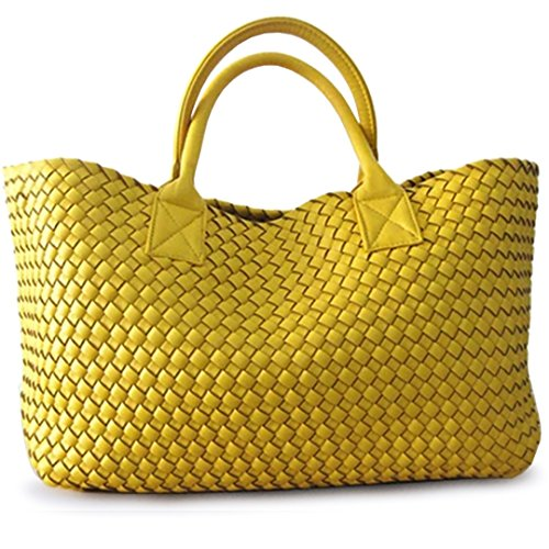 Large Shoulder BOBOMIMI Winter Bag Handbags Hand Bales Basket Shopping Woven White Capacity Tide WwRq0fRYr