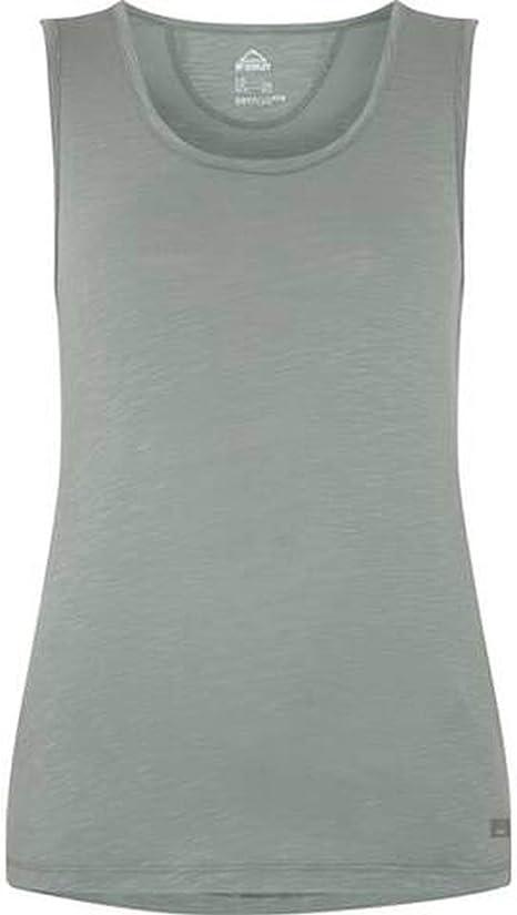 McKINLEY Luna II - Camiseta de senderismo para mujer (talla 50), color verde: Amazon.es: Deportes y aire libre