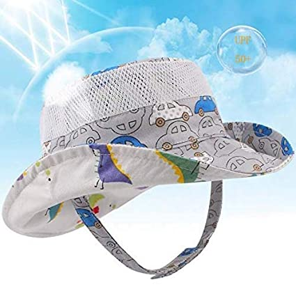 Foldable Bucket Hat Toddles Soft Cotton Beach Hats Wide Brim Fishermans Hat for Boys and Girls Kids Sun Hat