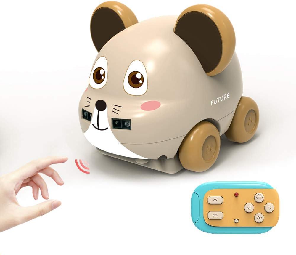 Goolsky Animal de Dibujos Animados Inducción Control Manual Mano Siguiendo RC Coche para Bebés Sensor de Gestos Lindo Tracker Coche Juguete Evitación de Obstáculos Navidad Año Nuevo Regalos para Niñas