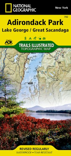 Lake George, Great Sacandaga: Adirondack Park (National Geographic Trails Illustrated - George In Shopping Ny Lake