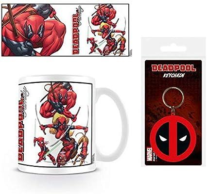 1art1® Set: Deadpool, Family Taza Foto (9x8 cm) Y 1 Deadpool ...
